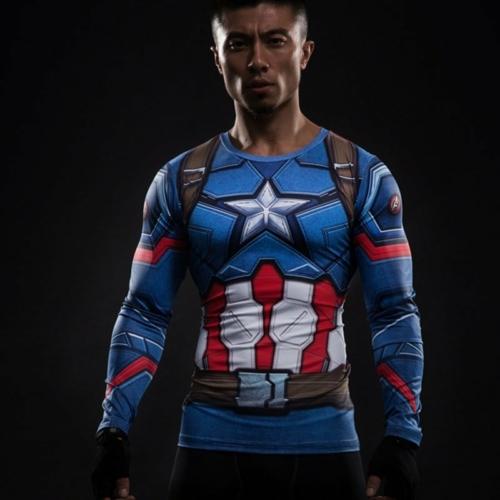 Рашгард Капитан Америка Компрессионная одежда