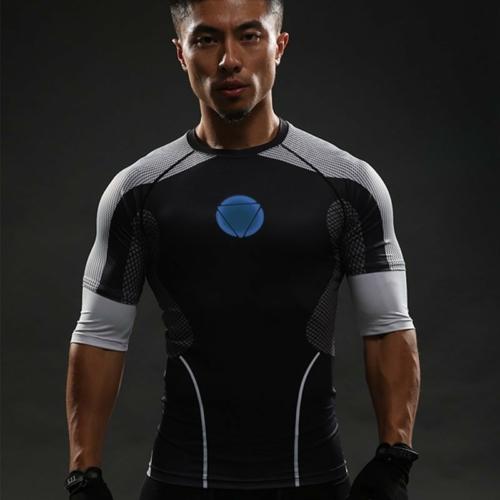 Рашгард Футболка Железный Человек Марвел Реактор Спорт