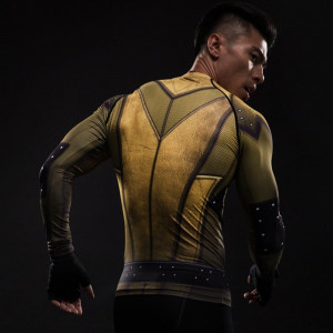 Cosplay Costume Reverse Flash 3D Printed T shirts Men Raglan Long Sleeve Compression Shirt Fit Gym