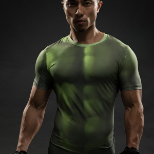 HULK 3D T Shirts Avengers Compression Shirt Men Summer Short sleeve Fitness Crossfit Male Gym Clothing