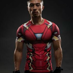 Рашгард Футболка Компрессионая Железный Человек Марвел