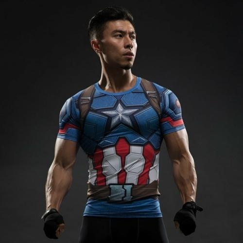 Рашгард Капитан Америка Гражданка Компрессионая Marvel
