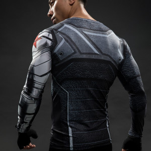 Winter Soldier 3D Printed T shirts Men Long Sleeve T Shirt Captain America Civil War Tee 2