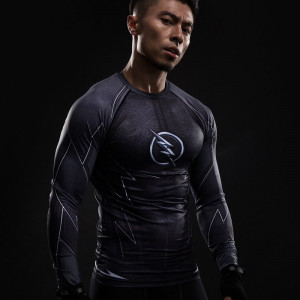 ZOOM 3D Printed T shirts Men Raglan Long Sleeve Compression Shirt Flash Cosplay Costume Slim Fit 1