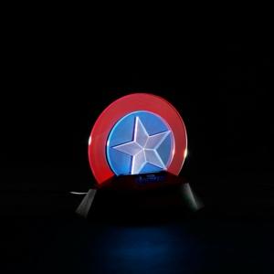 Купить Москва СПБ Киев Алматы 3D Лампа Ночник Капитан Америка Атрибутика Марвел