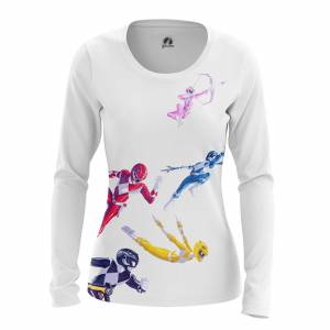 Женский Лонгслив Power Rangers Могучие Рейнжеры - e4yxqlm5 1487594686