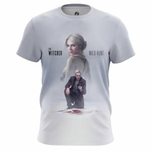 Мужская футболка Witcher Ведьмак Игра Noir Hunt - edjwfdqv 1485447506