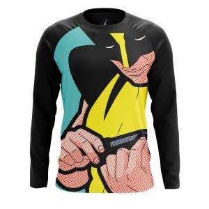 Мужской лонгслив Поп арт Pop art Wolverine Росомаха Люди Икс - h1ampira 1487000330