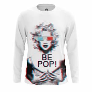 Мужской лонгслив Поп арт Be Pop Мерилин Монро 3D Очки - m lon bepop 1482275254 79