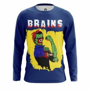 Мужской лонгслив Зомби Brains - m lon brains 1482275265 101