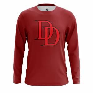 Мужской лонгслив Daredevil logo Сорвиголова Нэтфликс - m lon daredevillogo2 1482275286 168