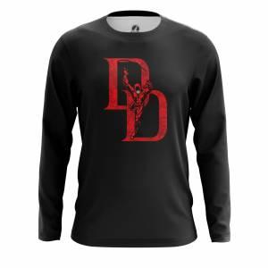 Мужской лонгслив Daredevil logo Сорвиголова Нэтфликс - m lon daredevillogo 1482275285 167