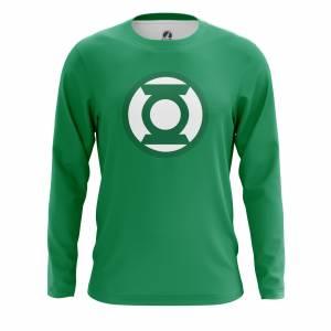 Мужской лонгслив Зелёный фонарь Эмблема Логотип DC Комикс - m lon greenlanternlogo 1482275326 279