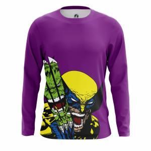 Мужской лонгслив Hulk vs Wolverine Халк Росомаха - m lon hulkvswolverine 1482275340 316