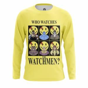 Мужской лонгслив Who watches the Watchmen Хранители DC Комикс - m lon whowatchesthewatchmen 1482275464 659