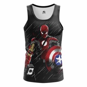 Купить Москва СПБ Киев Алматы Мужская Майка Captain Spiderman Человек Паук Спайдермен