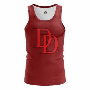 Мужская Майка Daredevil logo Сорвиголова Нэтфликс - m tan daredevillogo2 1482275286 168
