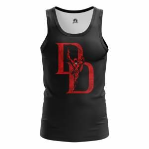 Мужская Майка Daredevil logo Сорвиголова Нэтфликс - m tan daredevillogo 1482275285 167