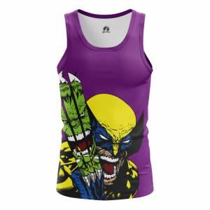 Мужская Майка Hulk vs Wolverine Халк Росомаха - m tan hulkvswolverine 1482275340 316