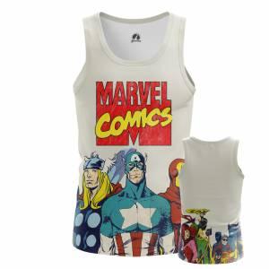 Мужская Майка Мстители Марвел Комикс - m tan marvelcomics 1482275372 397