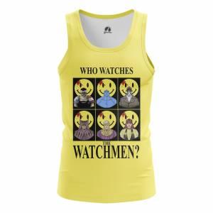 Мужская Майка Who watches the Watchmen Хранители DC Комикс - m tan whowatchesthewatchmen 1482275464 659