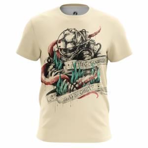Мужская футболка Игры Big Daddy Биошок Игра - m tee bigdaddy 1482275260 87
