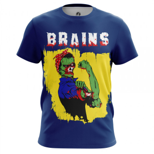 Мужская футболка Зомби Brains - m tee brains 1482275265 101