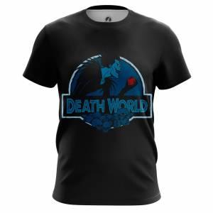 Мужская футболка Тетрадь Смерти Атрибутика Мерч Death World - m tee deathworld 1482275296 193