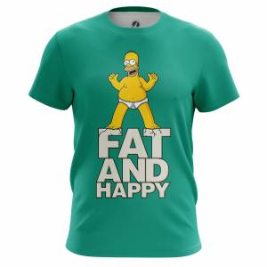 Мужская футболка Симпсоны Fat and happy - m tee fatandhappy 1482275311 234
