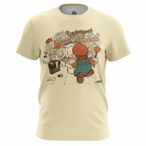 Мужская футболка Игры Hard Work Марио Ретро Игра - m tee hardwork 1482275332 289
