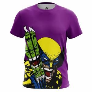 Мужская футболка Hulk vs Wolverine Халк Росомаха - m tee hulkvswolverine 1482275340 316