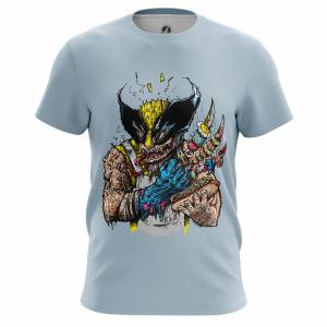Мужская футболка Логан Барбекю Росомаха Люди Икс - m tee logansbbq 1482275365 380