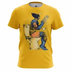 Мужская футболка Poo time Логан Росомаха - m tee pootime 1482275404 486