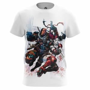 Мужская футболка Дефстроук и Харли Квинн DC Комикс - m tee 1482275296 195