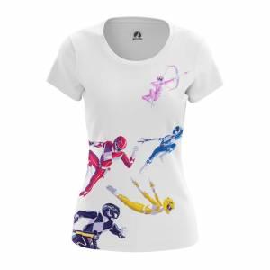 Женская футболка Power Rangers Могучие Рейнжеры - mo4otl1c 1487594669