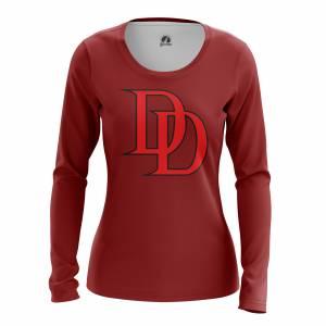 Женский Лонгслив Daredevil logo Сорвиголова Нэтфликс - w lon daredevillogo2 1482275286 168