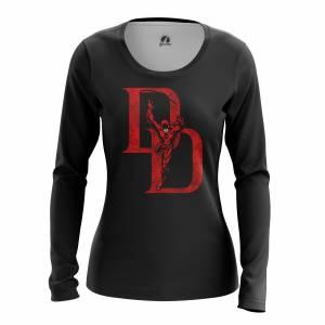 Женский Лонгслив Daredevil logo Сорвиголова Нэтфликс - w lon daredevillogo 1482275285 167
