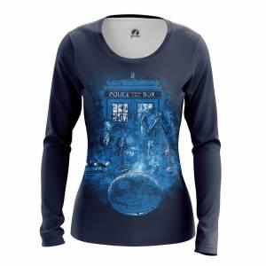 Женский Лонгслив Doctor Who Доктор Кто Тардис - w lon doctorwho 1482275300 206