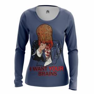 Женский Лонгслив I want your brains Халф Лайф - w lon iwantyourbrains 1482275342 323