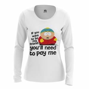 Женский Лонгслив Южный Парк Pay cartman - w lon paycartman 1482275398 475