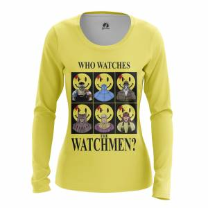 Женский Лонгслив Who watches the Watchmen Хранители DC Комикс - w lon whowatchesthewatchmen 1482275464 659