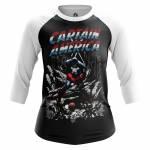 Женский Реглан Captain America Капитан Америка Стив Роджерс - w rag captainamerica3 1482275267 113