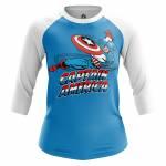 Женский Реглан Captain America Капитан Америка Стив Роджерс - w rag captainamerica 1482275267 111