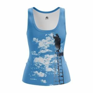 Женская Майка Разное Clouds - w tan clouds 1482275279 147