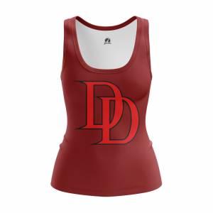 Женская Майка Daredevil logo Сорвиголова Нэтфликс - w tan daredevillogo2 1482275286 168