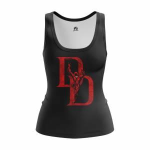 Женская Майка Daredevil logo Сорвиголова Нэтфликс - w tan daredevillogo 1482275286 167