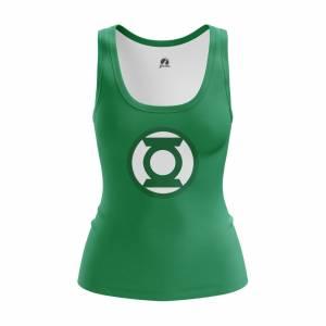 Женская Майка Зелёный фонарь Эмблема Логотип DC Комикс - w tan greenlanternlogo 1482275327 279