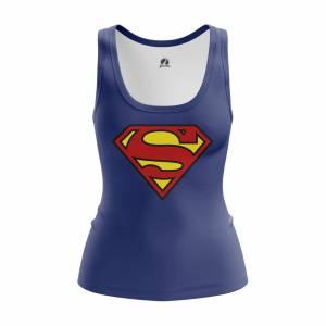 Женская Майка Superman logo Супермэн DC Комикс - w tan supermanlogo 1482275442 593