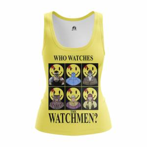Женская Майка Who watches the Watchmen Хранители DC Комикс - w tan whowatchesthewatchmen 1482275464 659