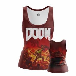 Женская Майка Игры Doom Дум Игра - w tan 1482275302 209
